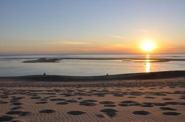coucher de soleil sur la dune du pyla 10