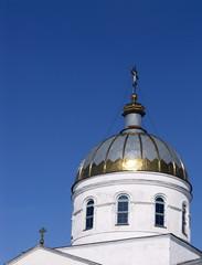 Christian orthodox church against a blue sky