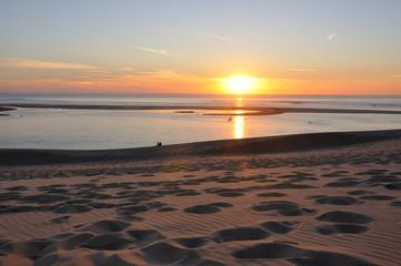 coucher de soleil sur la dune du pyla 4