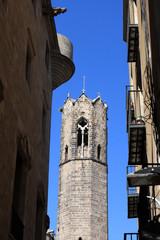 Cathedral between buildings