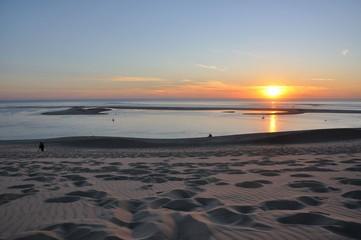 coucher de soleil sur le banc d'arguin 15