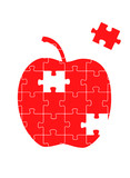 Apple puzzle vector background
