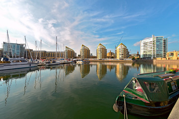 Limehouse Basin, Tower Hamlets, London, England, UK, Europe