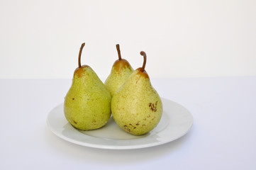 pears isolated in a white background
