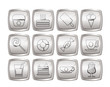 Sweet food and confectionery icons - vector icon set