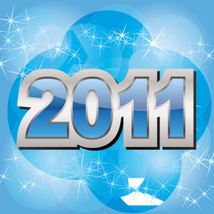 New 2011 year background - vector illustration