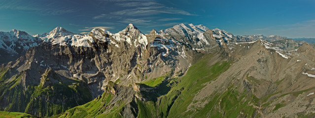 View from the Schilthorn mountain