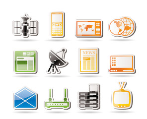 Simple Communication and Business Icons