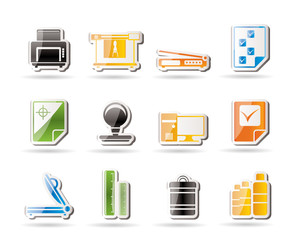 Print industry Icons - Vector icon set 2