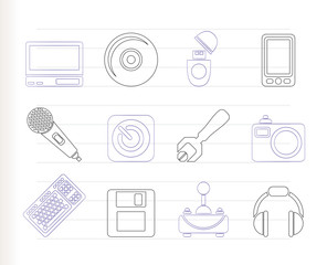 Computer and mobile phone Equipment Icons