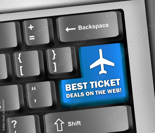 "Keyboard Illustration ""Best Ticket Deals On The Web!"""