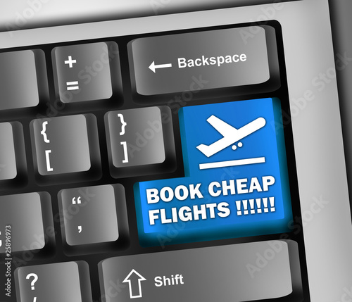 "Keyboard Illustration ""Book Cheap Flights !!!!!!"""