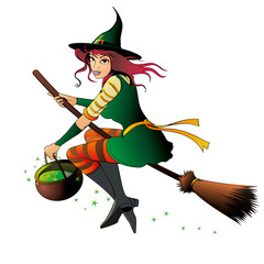 witch with a pot