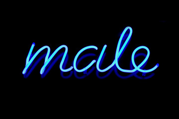 Male neon sign