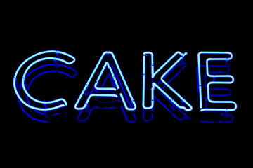 Cake neon sign
