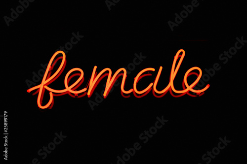 Female neon sign