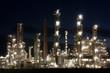 Raffinerie bei Heide in Schleswig-Holstein bei Nacht, Refinery