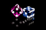 Colorful Casino Gaming Dice