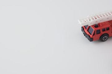 ミニチュアの消防自動車