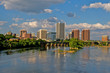 Cityscape of Richmond, Virginia over the James River.