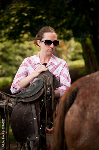 Tourist in Costa Rica with Horse