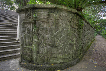 Balinese Stone Wall Carvings 2