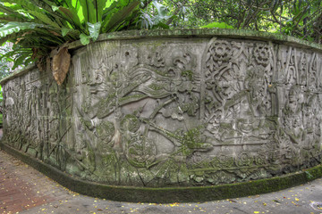 Balinese Stone Wall Carvings