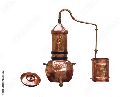 alcohol distillery - alembic copper