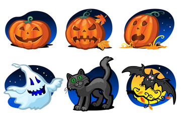 six halloween icons