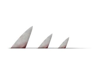 Shark fin blades
