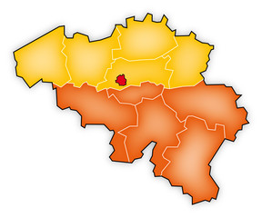 Carte Belgique - wallonie - flandre