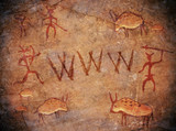 prehistoric world wide web cave paint poster