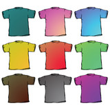 t shirts collection against white