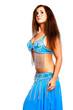 oriental Bellydancer in blue costume
