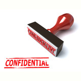 3d stamp confidential poster