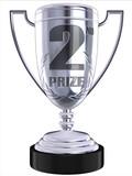 second prize 3d trophy poster