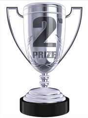 second prize 3d trophy