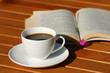 Coffee and book relax