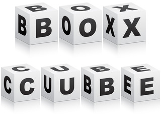 box and cube words