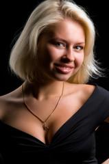 portrait of blonde in the studio