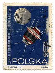 Vintage Poland postage stamp