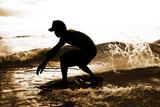 Fototapety skimboarder in water drops