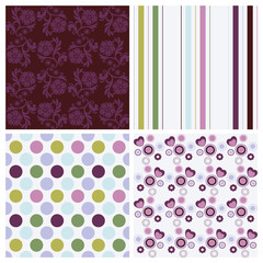 Colorful seamless patterns