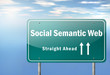"Highway Signpost ""Social Semantic Web - Straight Ahead"""