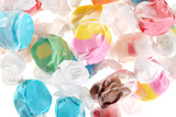 lots of salt water taffy