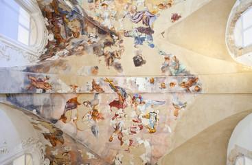 Affreschi sul soffitto dell'ex convento del ritiro, Siracusa