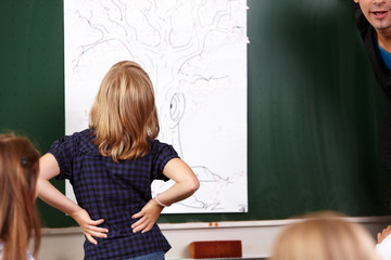 Mädchen konzentriert