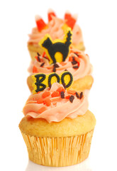 Three Halloween Cupcakes