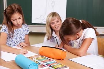 Unterrichtssituation in der Grundschule