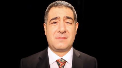 Sad businessman crying - Emotion - Sadness
